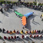 ОҚО-да «Болашаққа бағдар: рухани жаңғыру» мақаласын қолдауға және «ЭКСПО-2017» көрмесіне арналған флешмоб өтті