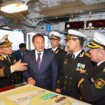 «Алатау» мина-тартқыш кемесінде Қазақстан Республикасы ӘК әскери-теңіз жалауы көтерілді
