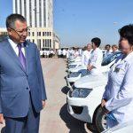 ОҚО медицина қызметкерлеріне 29 автокөліктің кілті тапсырылды