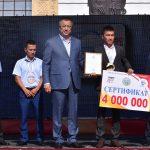 ОҚО әкімі Әлем чемпионына 4 млн теңге табыс етті
