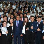 ҚазАТУ-дың ректоры белсенді студенттермен кездесті