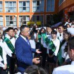 ОҚО әкімі Н.Назарбаев зияткерлік мектебінің  соңғы қоңырау шарасына қатысты