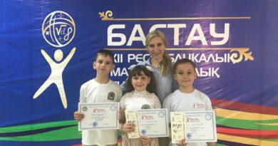 Павлодарлық оқушылар ХІІ республикалық «Бастау» турнирінде жақсы нәтиже көрсетті