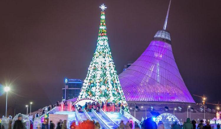 Жаңа жыл қарсаңында Астана қиял-ғажайып кейіпке енді