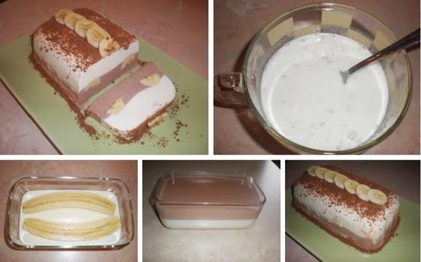 Творожный десерт с бананом и желатином рецепт пошагово